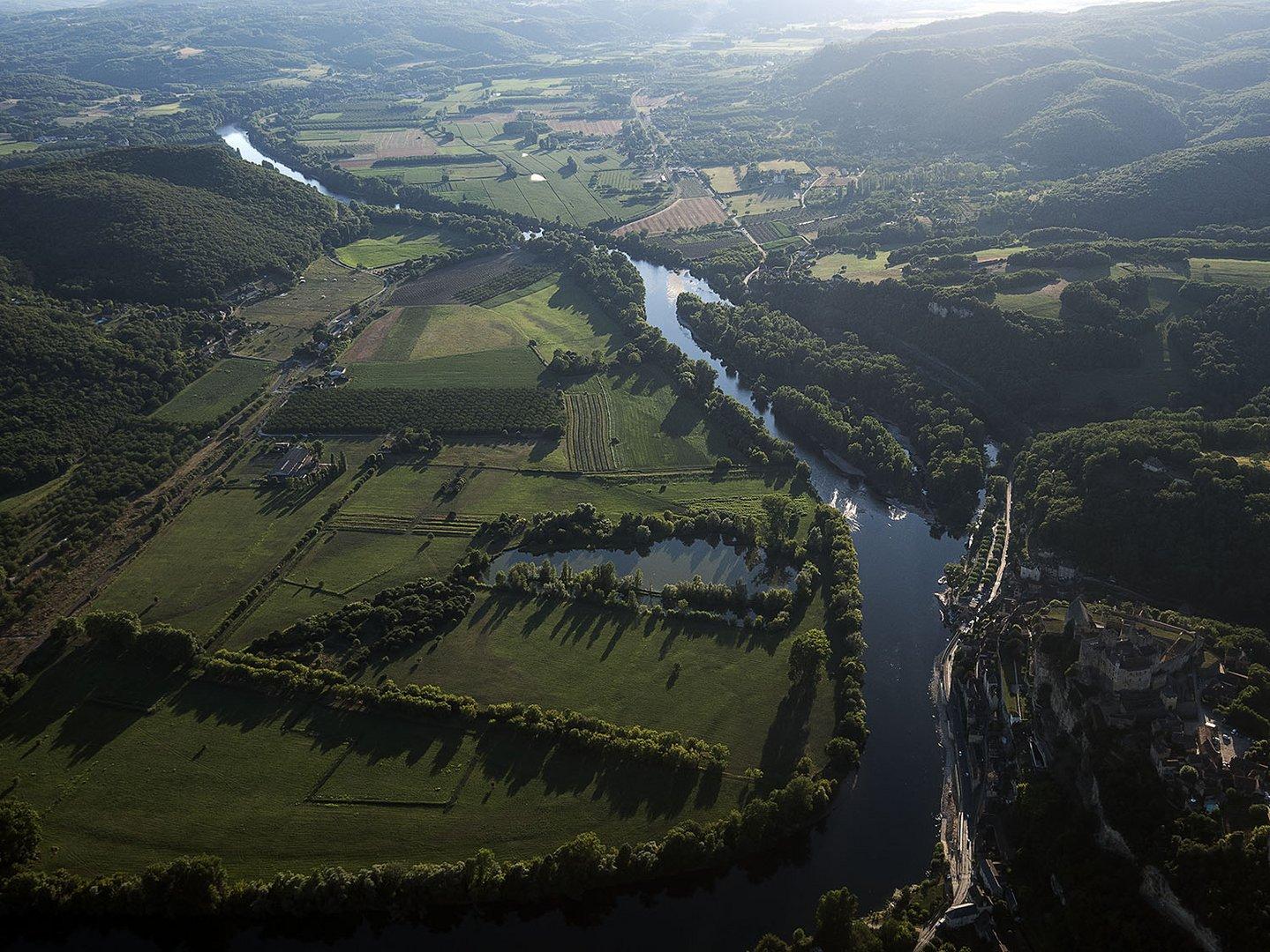 La rivière Espérance vue du ciel