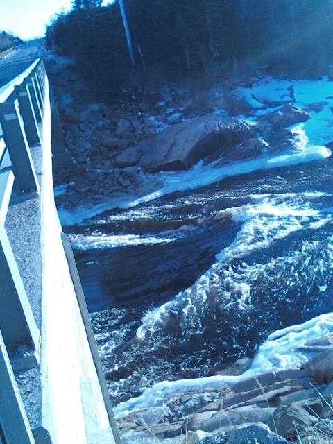La rivière Romaine l'hivers