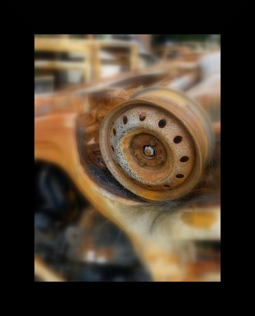 la roue rouillée