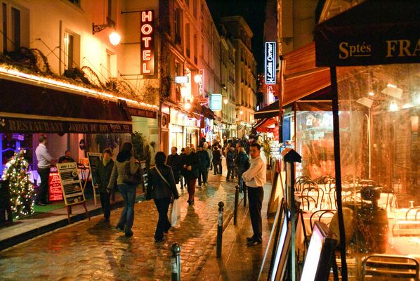 La rue de La Huchette-Paris