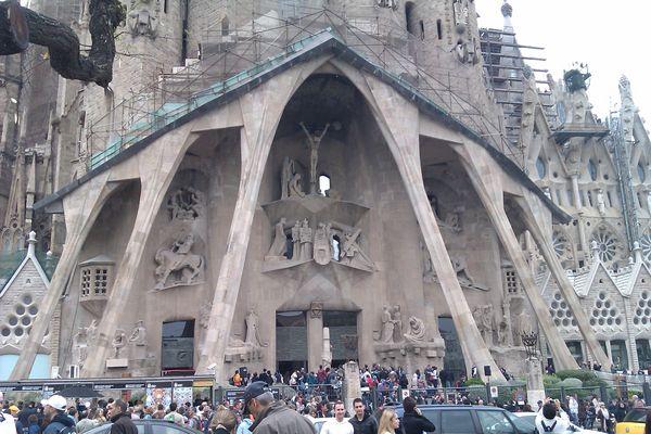 La sagrada Familia, Barcelone.