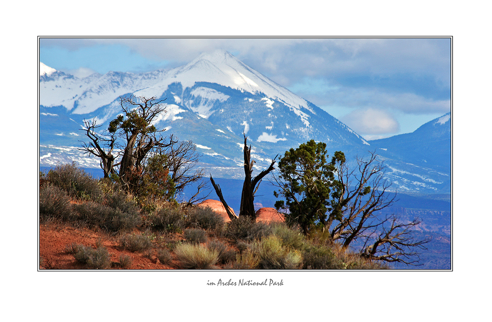 La Salle Mountains aus dem Arches NP