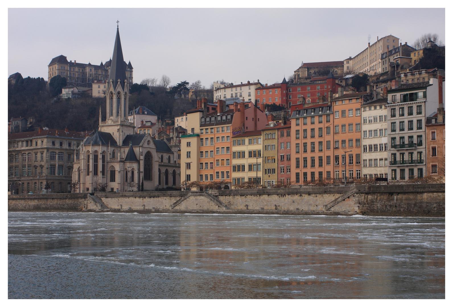 La Saône gèle aussi
