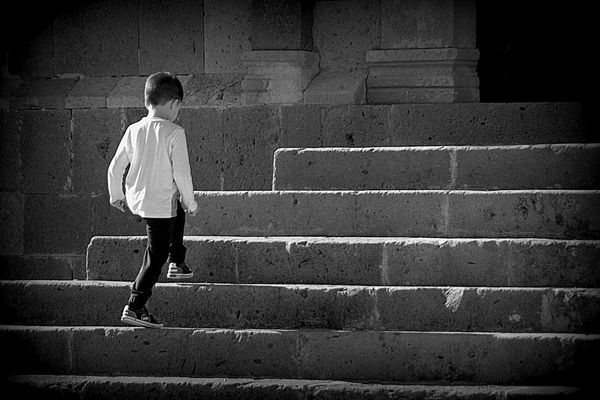 la scalinata...