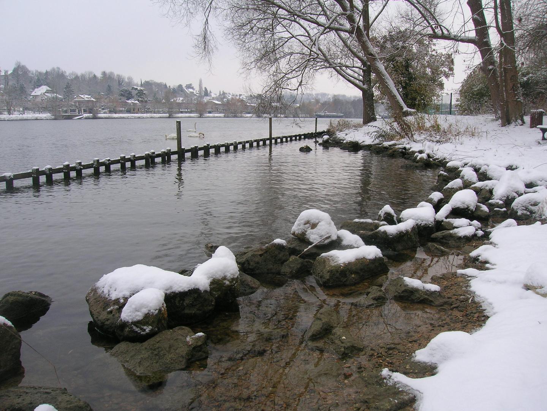 la seine sous la neige à melun!!!