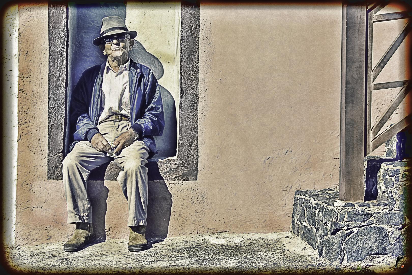 La siesta del Viejo Mateo.