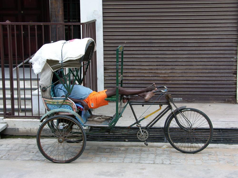 La sieste à Pondichéry