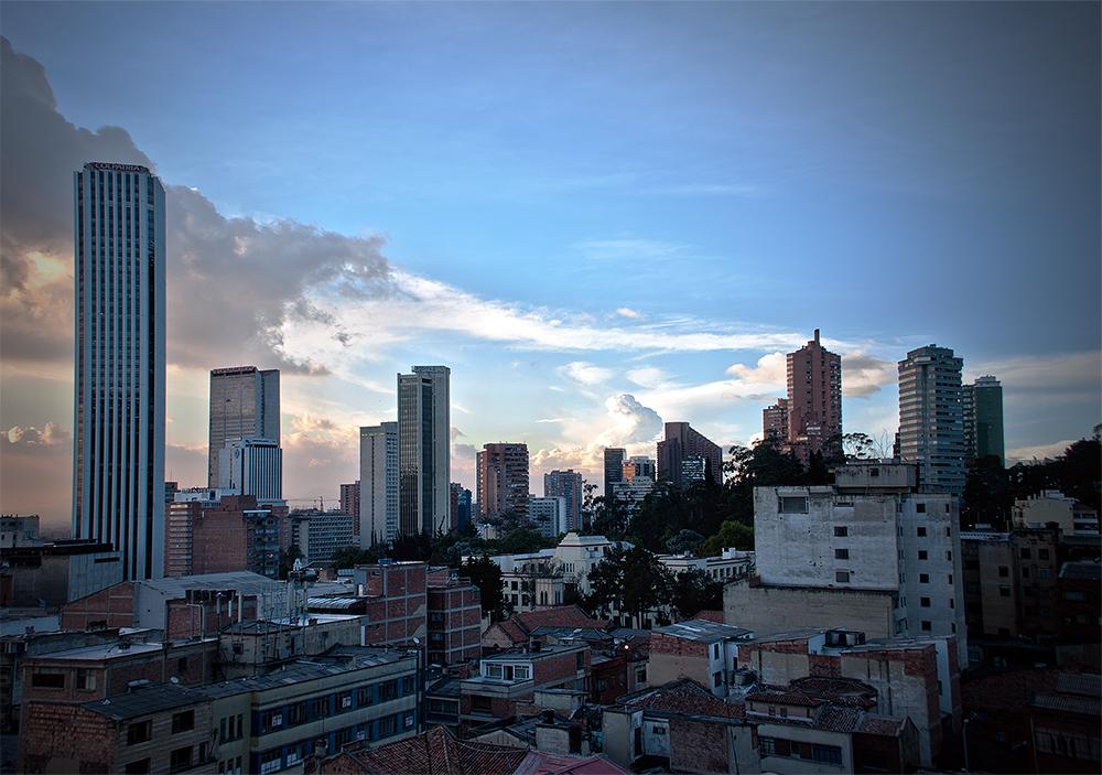La silueta de Bogotá
