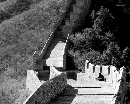 La solitude sur la Grande Muraille de Chine