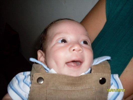 La sonrisa de un bebe