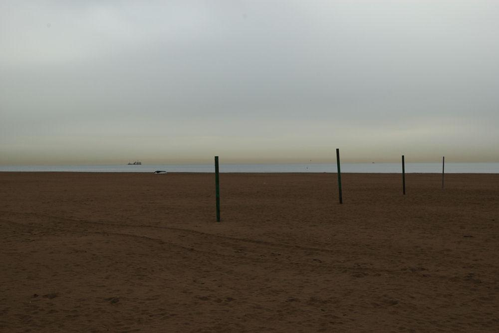 """La spiaggia di """"Luna Rossa"""""""