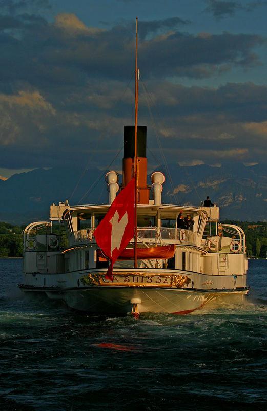 La Suisse quittant le port de Versoix
