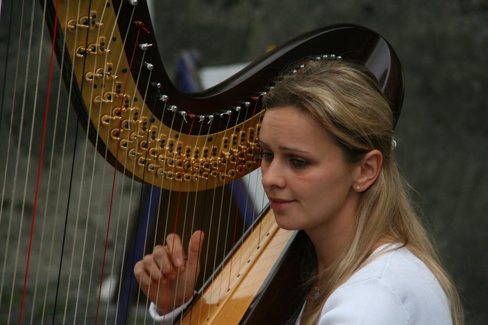 la suonatrice d'arpa