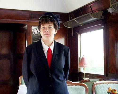 La sympathique contrôleuse de train