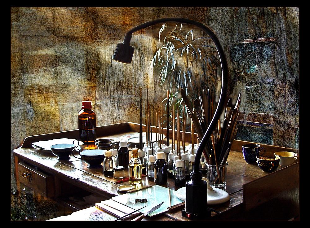 La table du doreur ( faire F11 pour voir en pleine page )