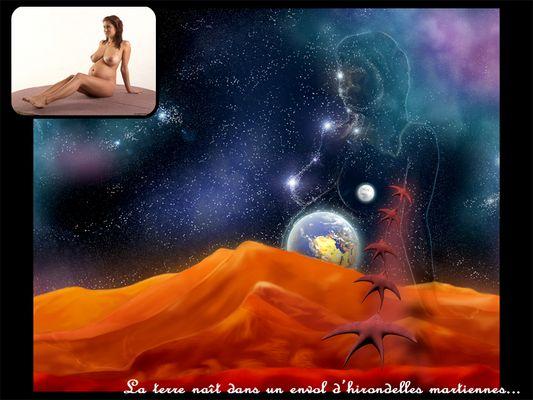 La terre naît d'un evol d'hirondelles martiennes...
