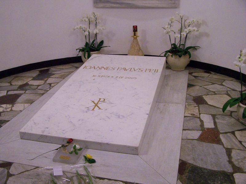 La tombe de Jean paul II au Vatican de rome