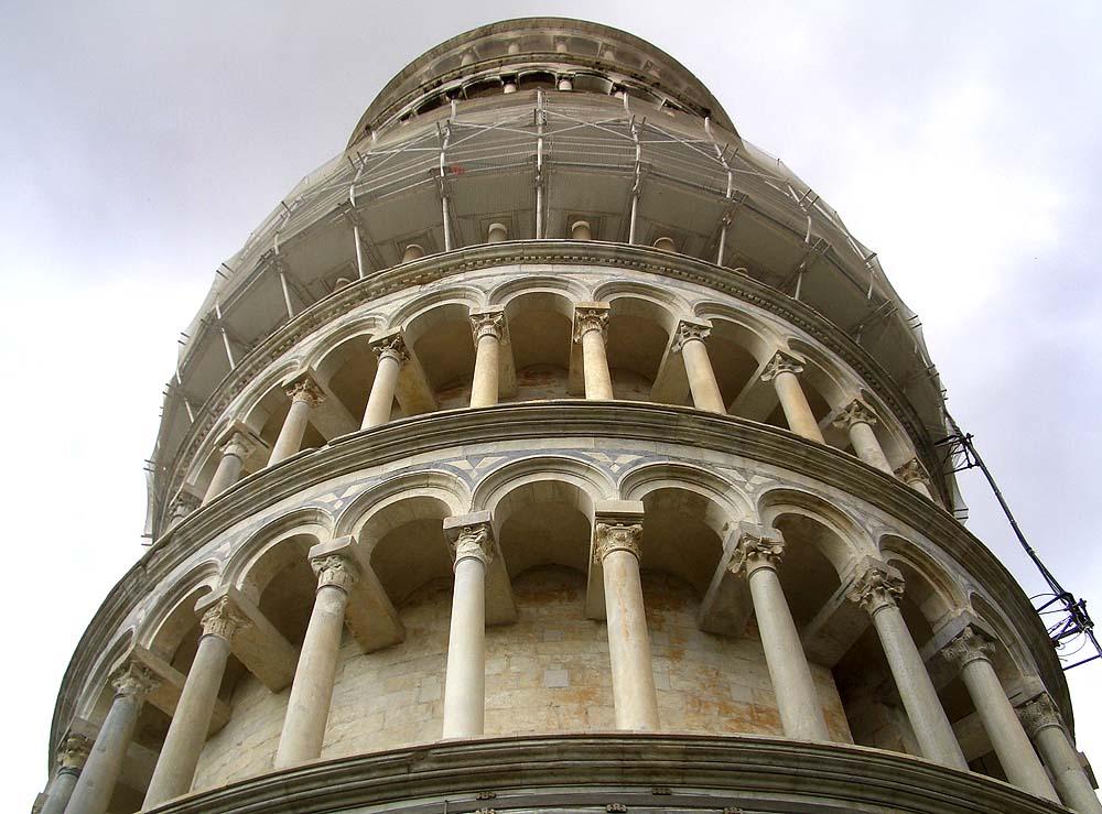 La torre de Pisa - ganz nah