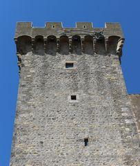 La torre di Capalbio con la stella natalizia, foto di giugno 2017...