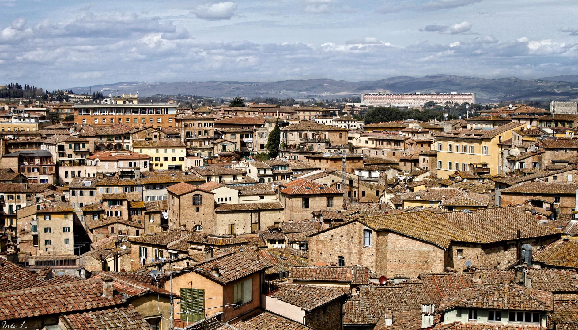 La Toscana desde la altura. (Siena).