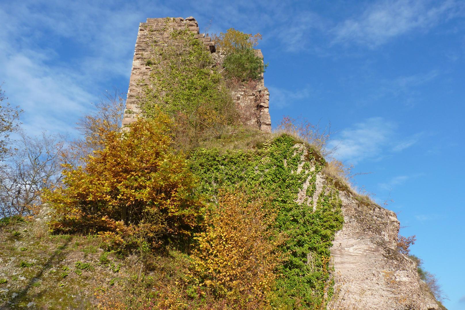La tour-donjon du château de Pierre-Percée