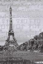 La tour Eiffel à travers le mur de la paix