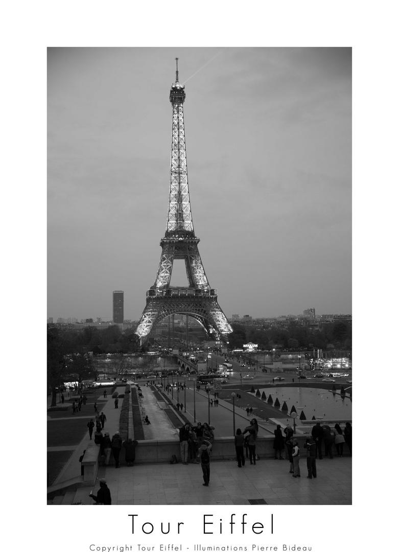 La Tour Eiffel -Copyright Tour Eiffel - Illuminations Pierre Bideau