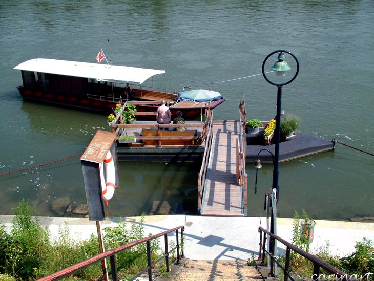 La traversée du Rhin / Quer über den Rhein