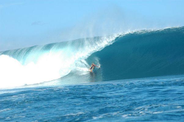La vague mythique de Tahiti