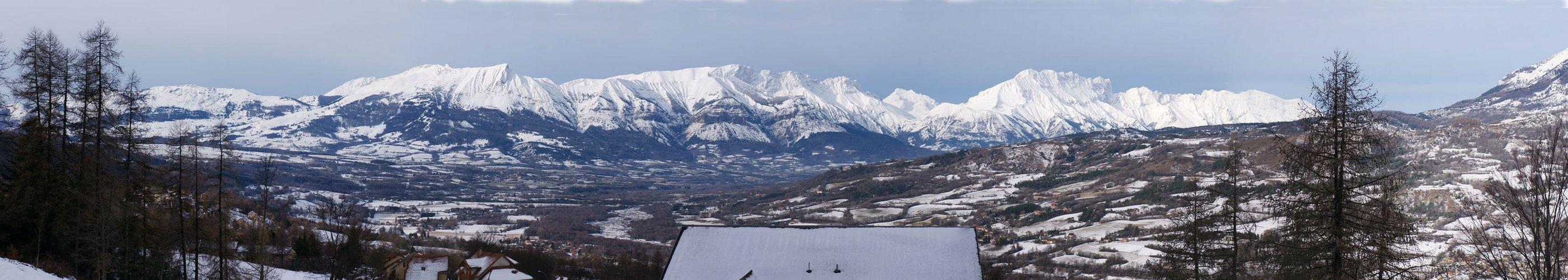 la vallée de St Léger les mélèzes en hiver 2