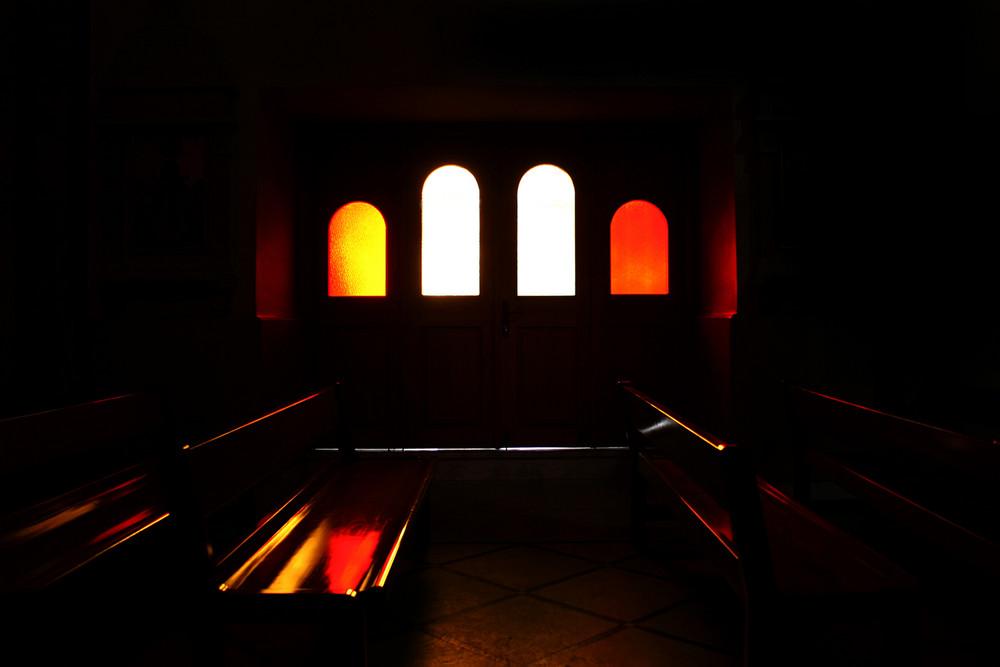 La vetrata ed i suoi riflessi