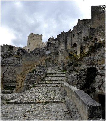 La via crucis.Sassi di Matera