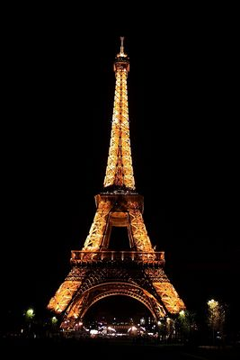 La vieille dame  (Copyright Tour Eiffel - Illuminations Pierre Bideau)