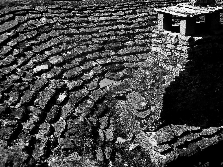 La vieja Europa 2, tejados de La Couvertoirade