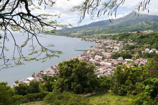 La ville de Saint Pierre et la Pelée