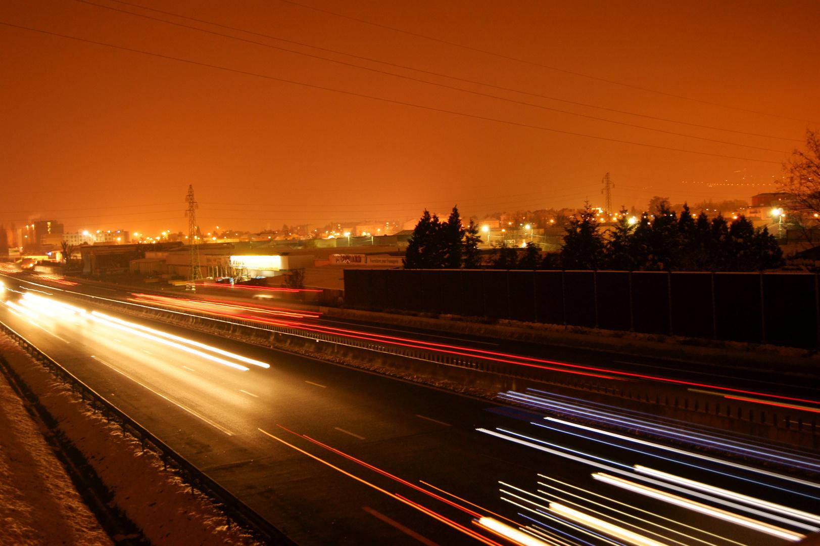 l'A6 la nuit