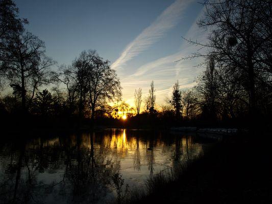 Lac Daumesnil fin d'après-midi