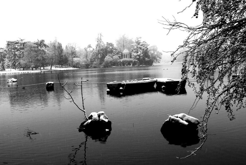 Lac Daumesnil sous la neige - FABRICE FRANQUEZA