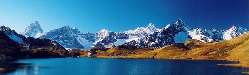 Lac de Fenêtre mit Mt.Blanc-Gruppe
