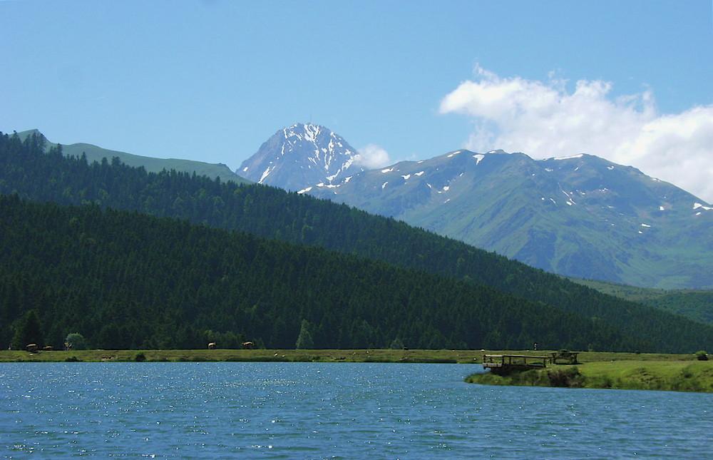 Lac de payolle et le pic du midi