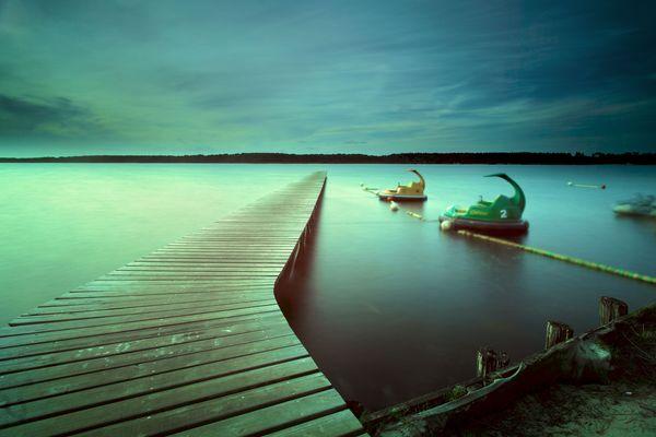 lac de sanguinet soir d'été
