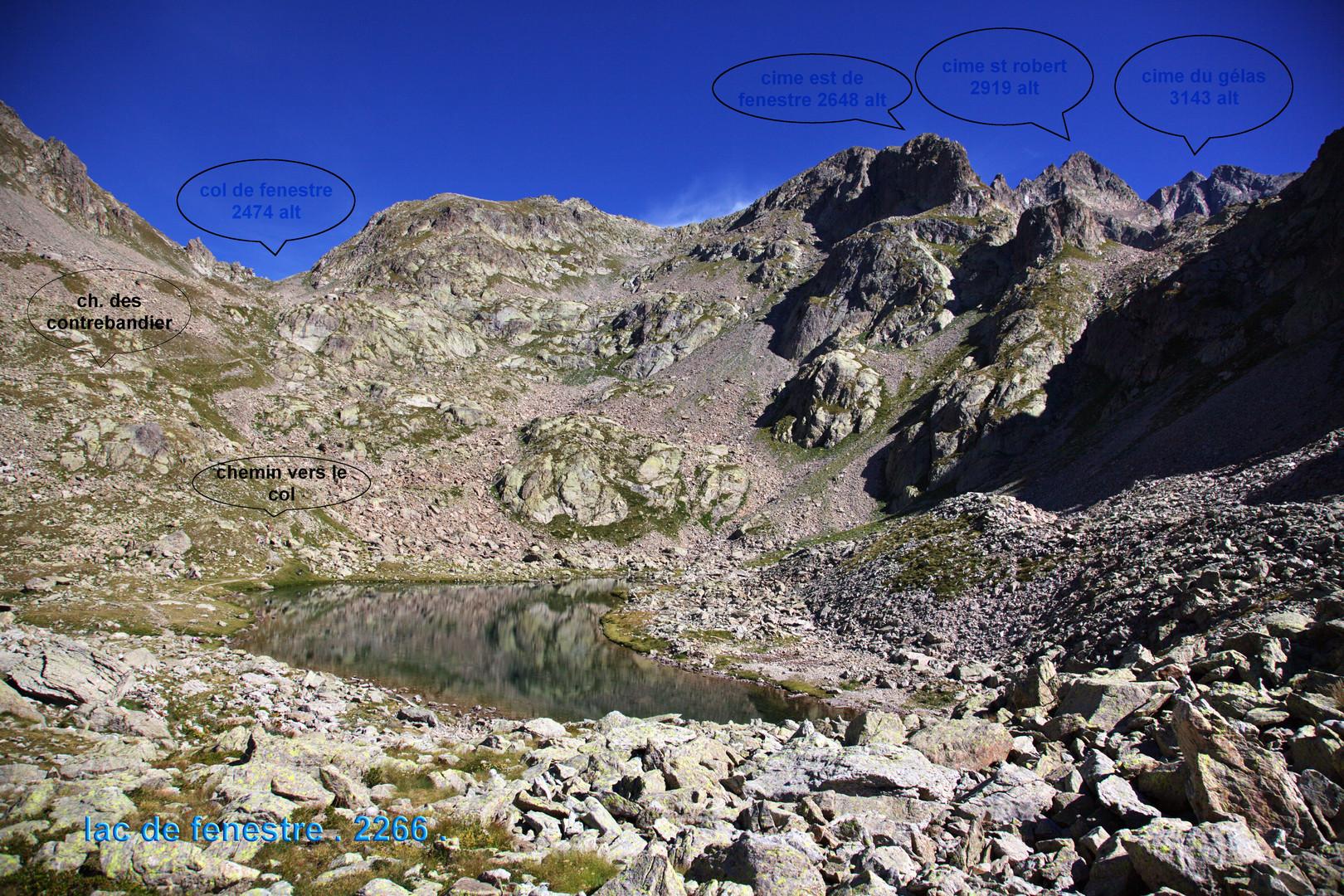 lac des fenestre mercantour