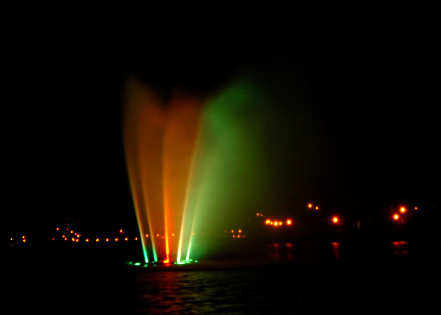 Lac des nations (la nuit)