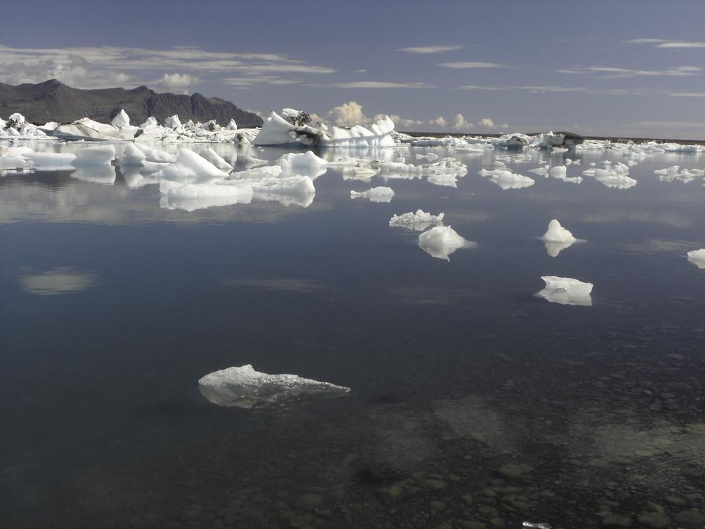 Lac d'icebergs