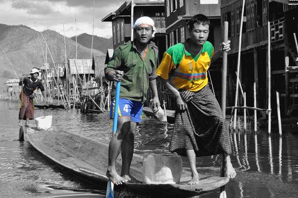 Lac Inlé en Birmanie