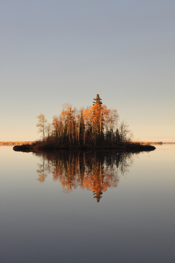 lac miroire endroit ou enver