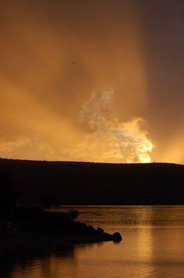 Lac ste croix du verdon en feu