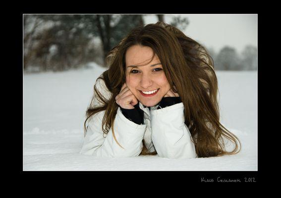 Lachen im Schnee.