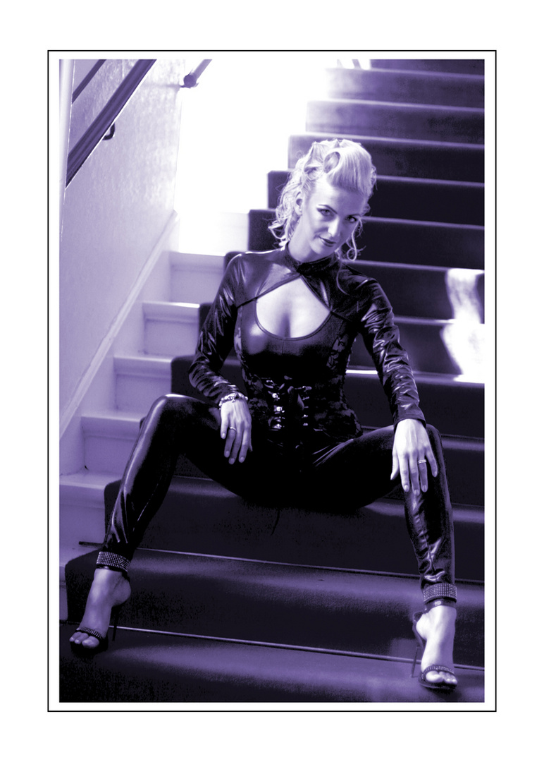 lacquer on stairs