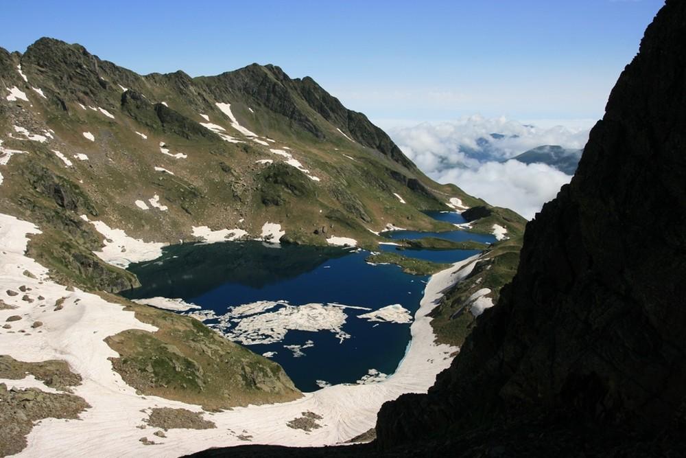 lacs depuis le port de venasque